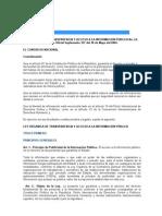 LEY ORGANICA DE TRANSPARENCIA Y ACCESO A LA INFORMACION PUBLICA No. 24