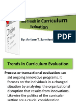 New Trends in Curriculum Evaluation ReportREVISED