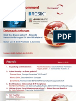Agenda Datenschutzforum