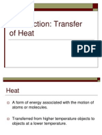 Introduction Transfer of Heat