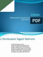 Pembuatan Logam Natrium Dan Senyawa Natrium