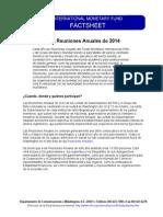 FMI IMF Reuniones Anuales de 2014