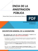Primera Unidad Ciencia de La Administraci n P Blica y Las Ciencias Sociales