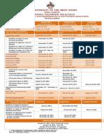 Ug&Cpe Calendar 2014-2015
