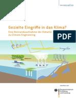 Sondierunsgsstudie Climate Engineering