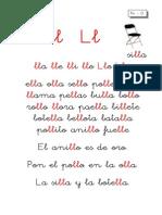 Metodo de Lectoescritura Letra Ll