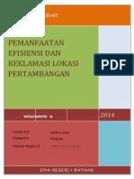 Download Makalah Pemanfaatan Efisiensi Dan Reklamasi Lokasi Pertambangan by Vikha Paramitha Raflata Mitha SN241464699 doc pdf