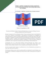 RESOLUCIÓN DE ÊTÔMBÂ Â NDÔWÉ- PARTIDO DEL PUEBLO NDOWÉ EN