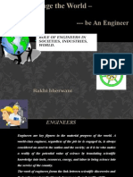 Roles of engineers in daily lifes