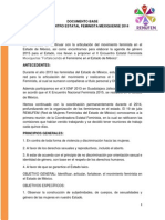 Documento Base del Encuentro Estatal Feminista Mexiquense 2014