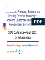 Achieving Standards Compliance in Agile and Lean