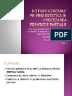 1 Estetica 1-Notiuni Generale Privind Estetica in Protezarea Edentatiei Partiale Comunicarea Intre Cabinet Si Laborator