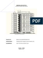 Memoria Edificio Departamentos