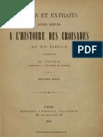 Nicolae Iorga Notes Et Extraits Pour Servir à l'Histoire Des Croisades Au XVe Siècle. Volumul 2