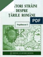 Călători Străini Despre Ţările Române. Supliment 1