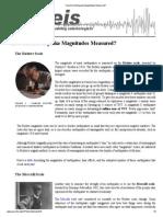How Are Earthquake Magnitudes Measured