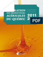 Federation Report on Maple Syrup Industry