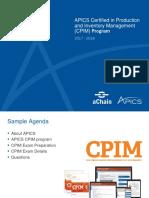 aChain APICS - Apresentação CPIM - http://www.achain.com.br/