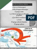 Historia de La Lengua Griega 1º BAC