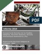 Informe Anual 2014 Derechos Humanos ONIC