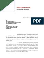 Nota UCR Al Gobernador Por Presupuesto 2015