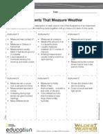 Worksheet Weather Instruments