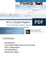 Project Cost Breakdown Structure Now Available in Oracle R12