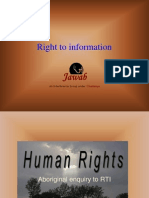 Right to Information by JAWAB