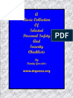Selected Personal Safety Checklists