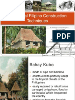 Traditional Filipino Construction Techniques