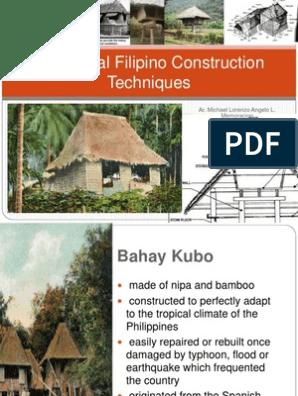 Traditional Filipino Construction Techniques Architectural