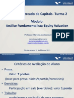 Analise Fundamentalista Equity Valuation FGV