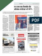Desempleados Con Un Fondo de S. 160 Mil Podrán Retirar El 50%_El Comercio 30-09-2014