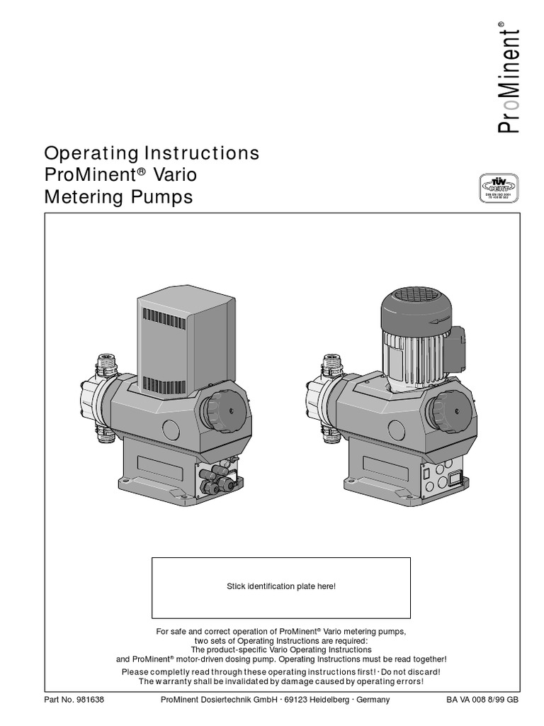 Prominent Manual | Valve | Relay