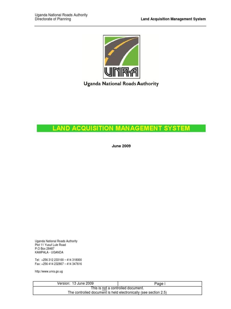 Land Aqusition Management System Uganda Lease Audit
