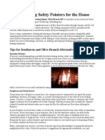 Winter Heating Safety Pointers for the House