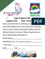 Mpact Club Tshirt Order Form
