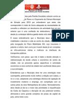 Declaração de voto dos vereadores do PS na Câmara Municipal de Almada a propósito das Grandes Opções do Plano e Orçamento para 2010