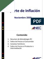 reporte de inflacion 2009
