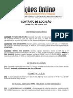 Contrato de Aluguel Locação de Imóvel Residencial