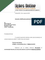 Notificação Extrajudicial Solicitando Documentos de Banco