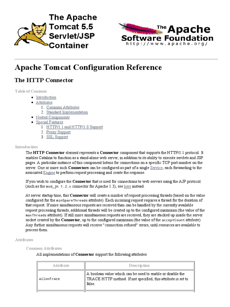 Configuration Connector Jboss Hypertext Transfer Protocol