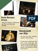 Vermeer, Rubens, Rembrant