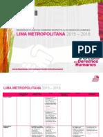 Voto por los derechos humanos - Lima Metropolitana