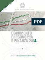Documento di Economia e Finanza 2014