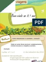 Organização Início Ano Letivo 5 Ano Português