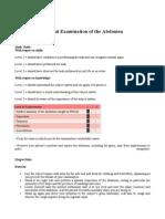 Clinical Examination of the Abdomen