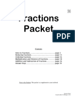 fraction practice packet