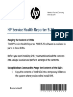 HP SHR 9.20 Reassembly Instructions