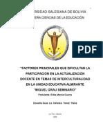 Actualizacion Docente Como Factor Principal